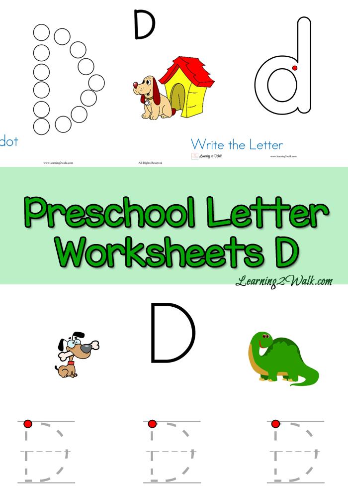 D Worksheets For Kindergarten