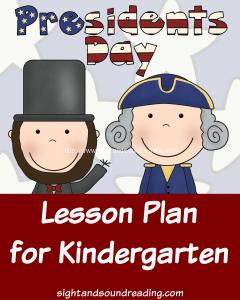 Free Printable President's Day Kindergarten Lesson Plan