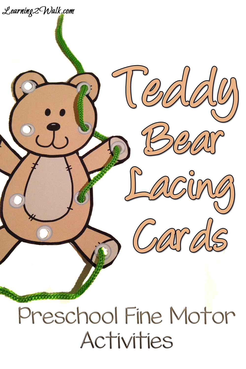 Free Printable Teddy Bear Lacing Cards