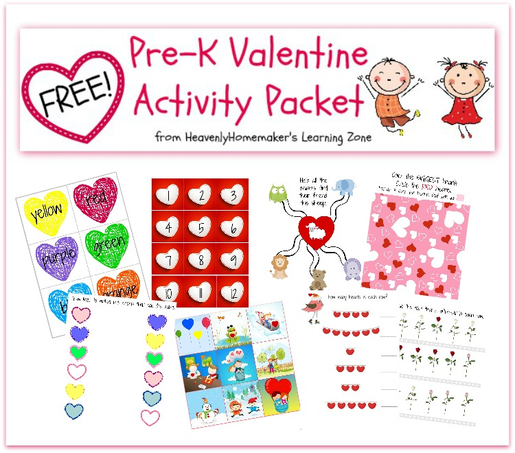 Free Printable Valentine's Day Preschool Pack