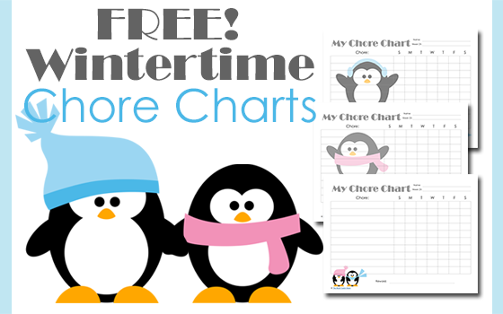 Free Printable Wintertime Chore Charts