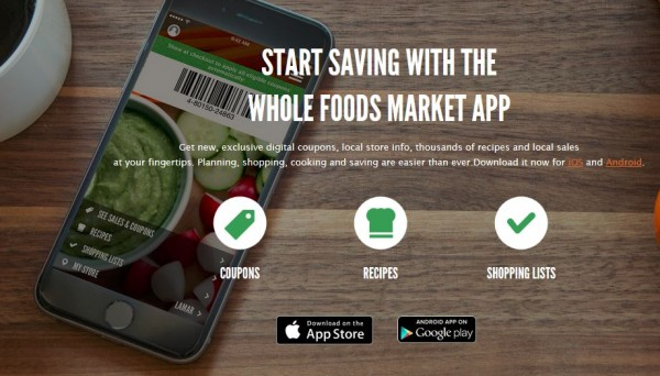 Get a $5 Whole Foods coupon with app download!