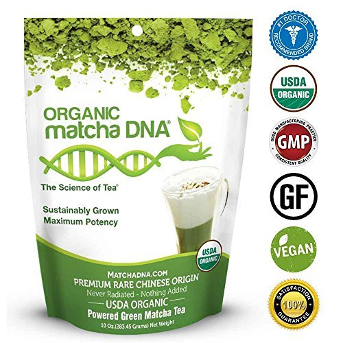 MatchaDNA Organic Powdered Matcha Green Tea, 10 Ounce Deal