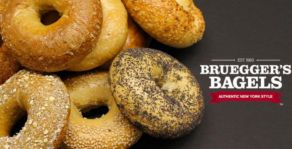 Get 3 free bagels at Bruegger's Bagels this Thursday, February 4!