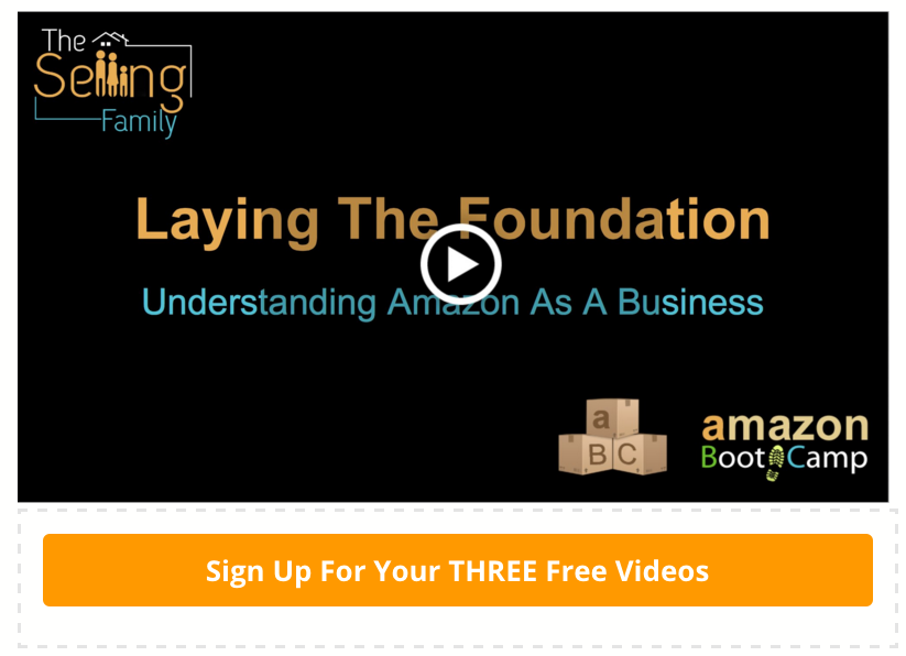 Sign up for this free video eCourse on how to make an income from home with an Amazon FBA business!