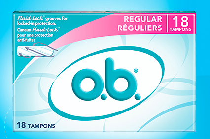 Sign up for a free full-size box of o.b. tampons!