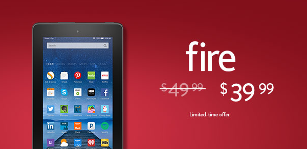 You can get the Kindle Fire Tablet for just $39.99 shipped right now on Amazon!!