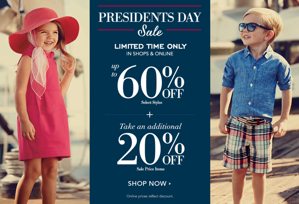 Shop the Janie and Jack President's Day Sale to get up to 60% off on select styles, plus an extra 20% off sale styles!