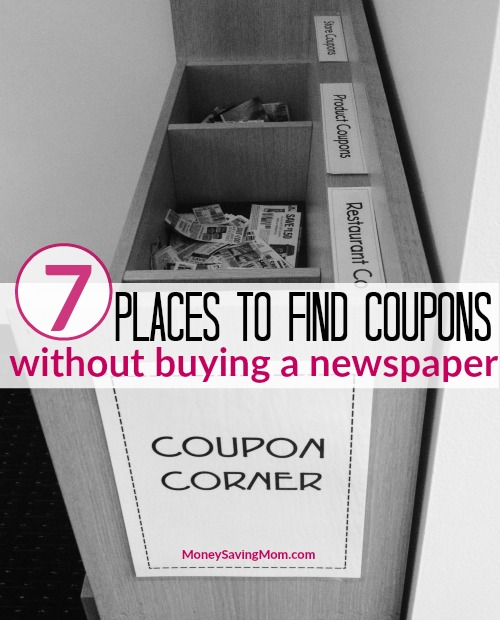 7 Places To Find Coupons Without Buying A Newspaper Money Saving Mom Money Saving Mom
