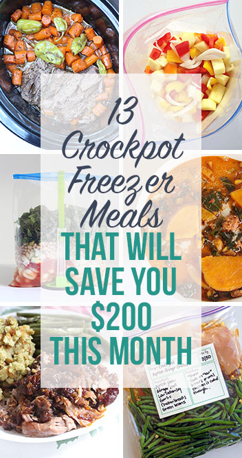 13 Crockpot Freezer Meals That Will Save You $200 This Month