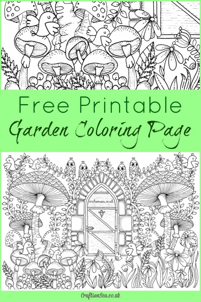 20 Free Printable Gardening Adult Coloring Pages - Money ...