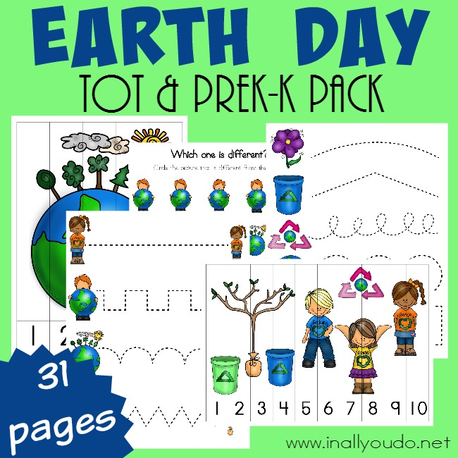 Free Earth Day Preschool Printable Pack