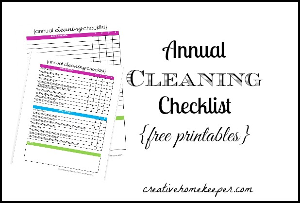 Free Printable Annual Cleaning Checklist