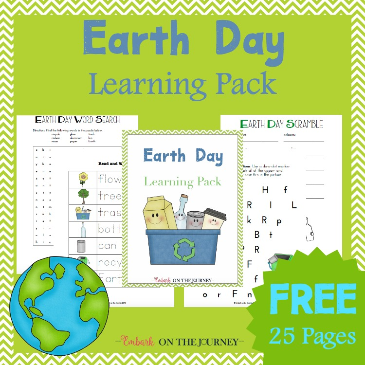 Free Printable Earth Day Learning Pack