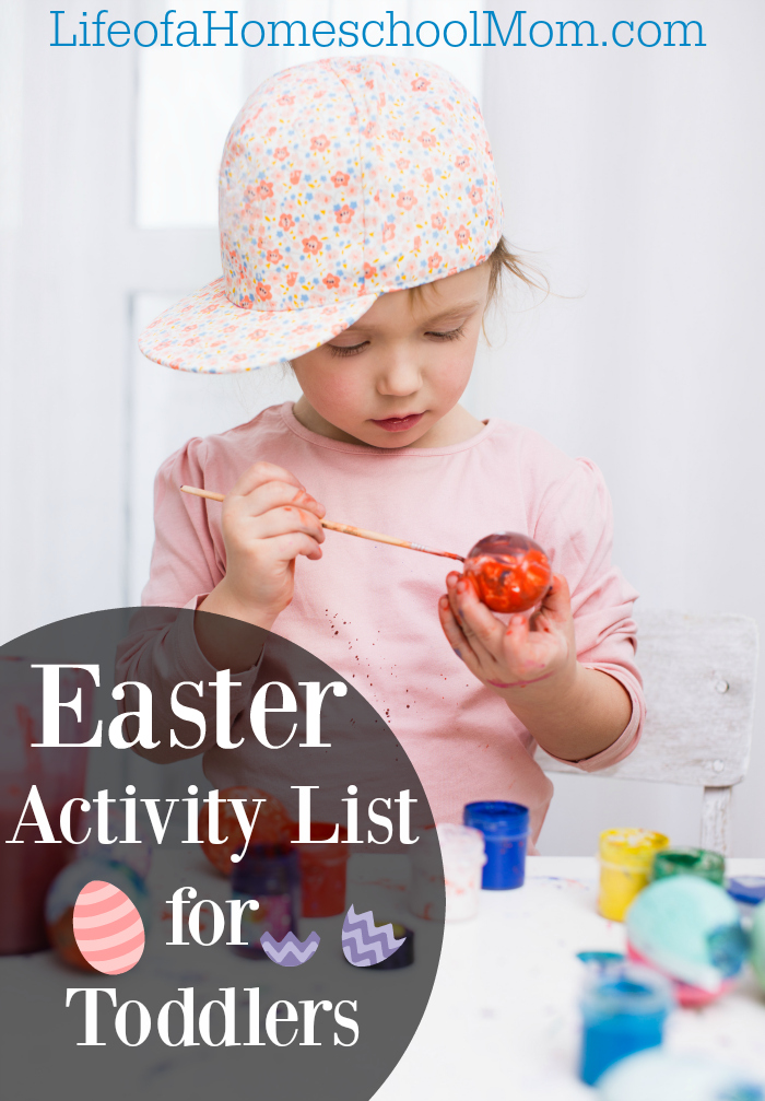 Free Printable Easter Activity List for Toddlers