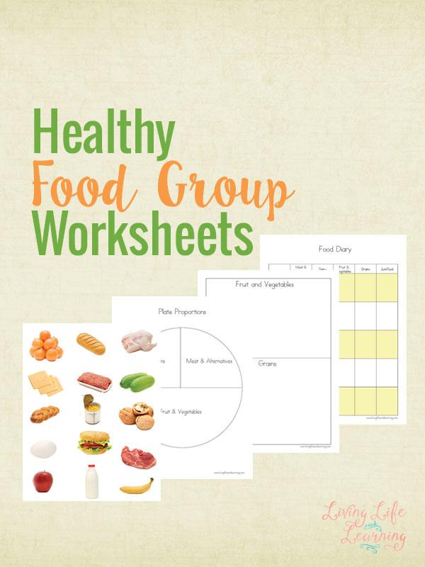 Free Printable Healthy Food Group Worksheets Money