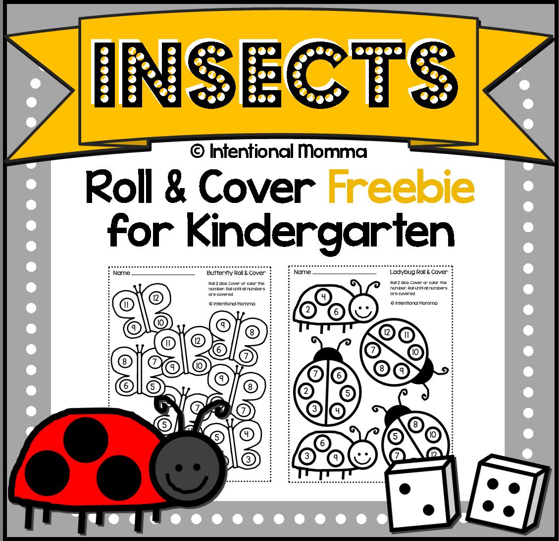 Free Printable Kindergarten Dice Worksheets