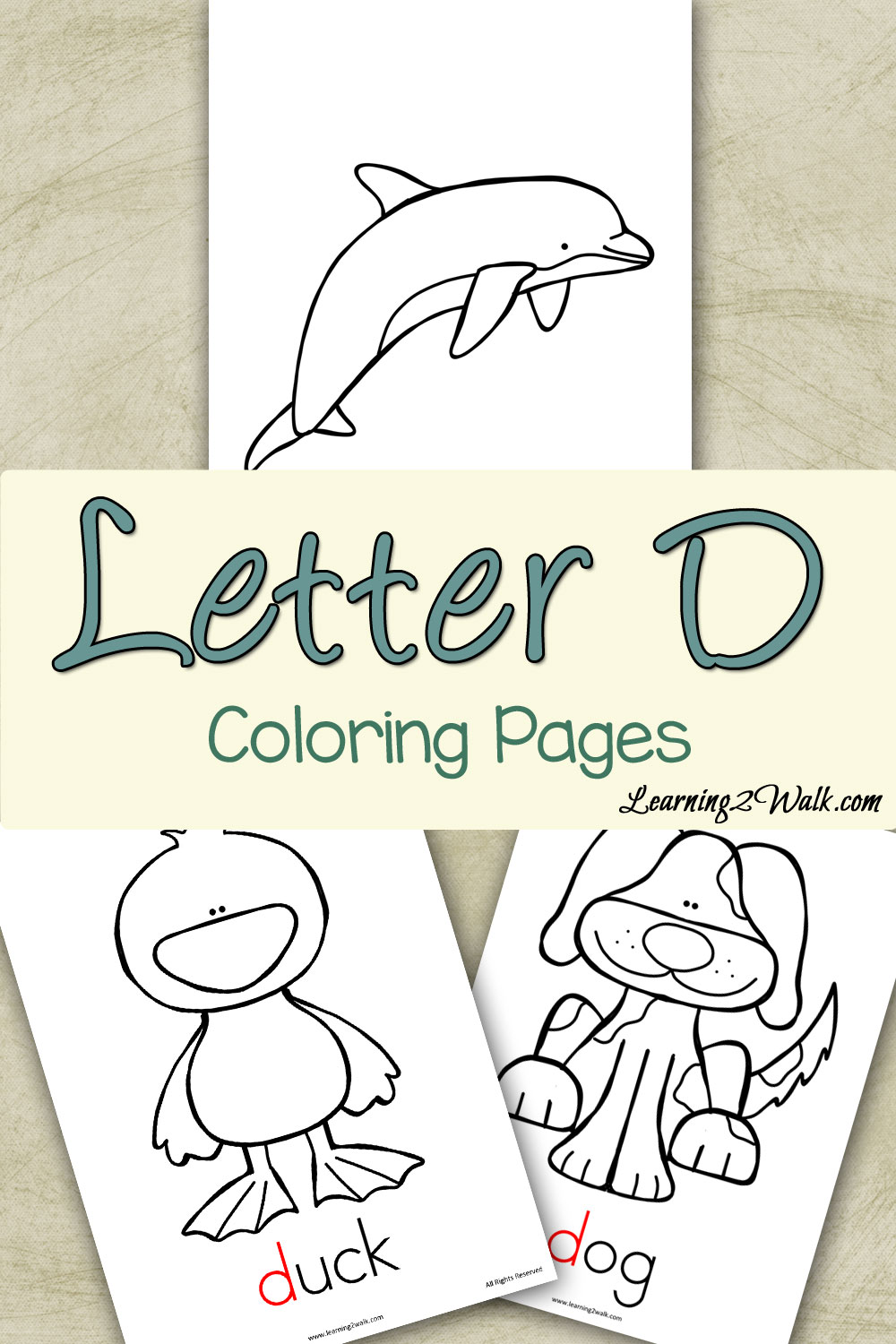 Free Printable Letter D Coloring Pages