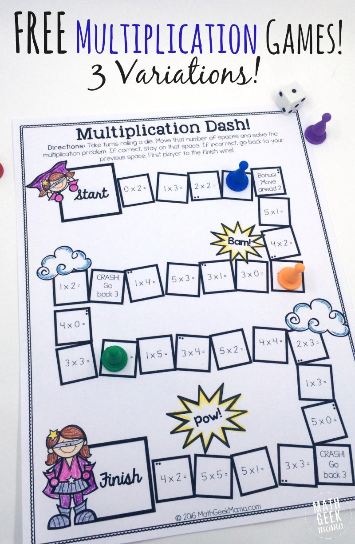Free Printable Multiplication Games