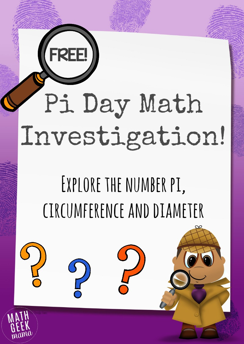 Free Printable Pi Day Math Investigation Activity Money