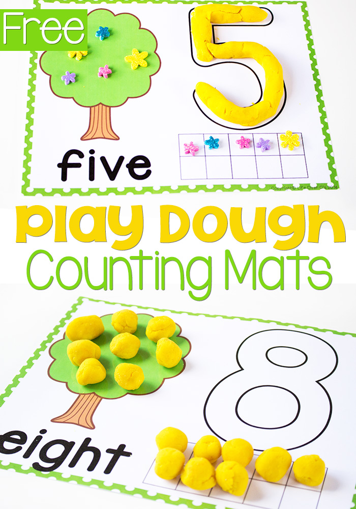 Inventive image inside free printable playdough mats