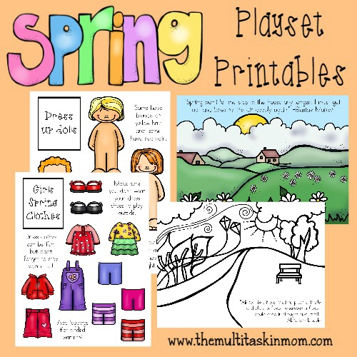 Free Spring Playset and Dress Up Printables