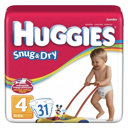 Get a free jumbo pack of Huggies Snug & Dry diapers at Walmart after rebate!