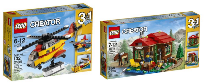 Get some great deals on LEGO Creator 3-in-1 sets right now on Amazon!!
