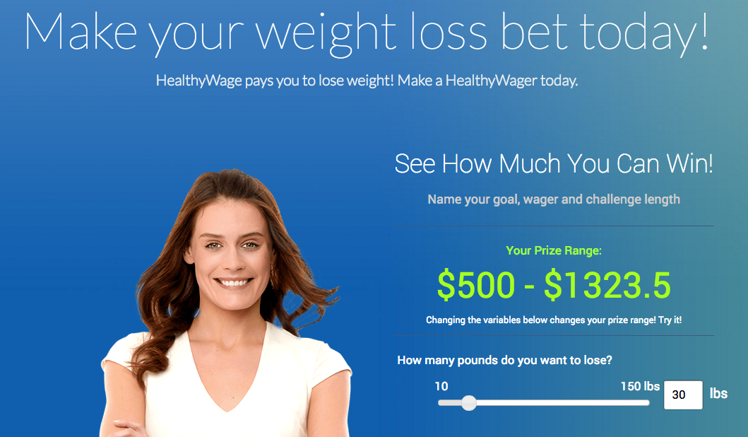 Sign up for HealthWage and get paid to lose weight!