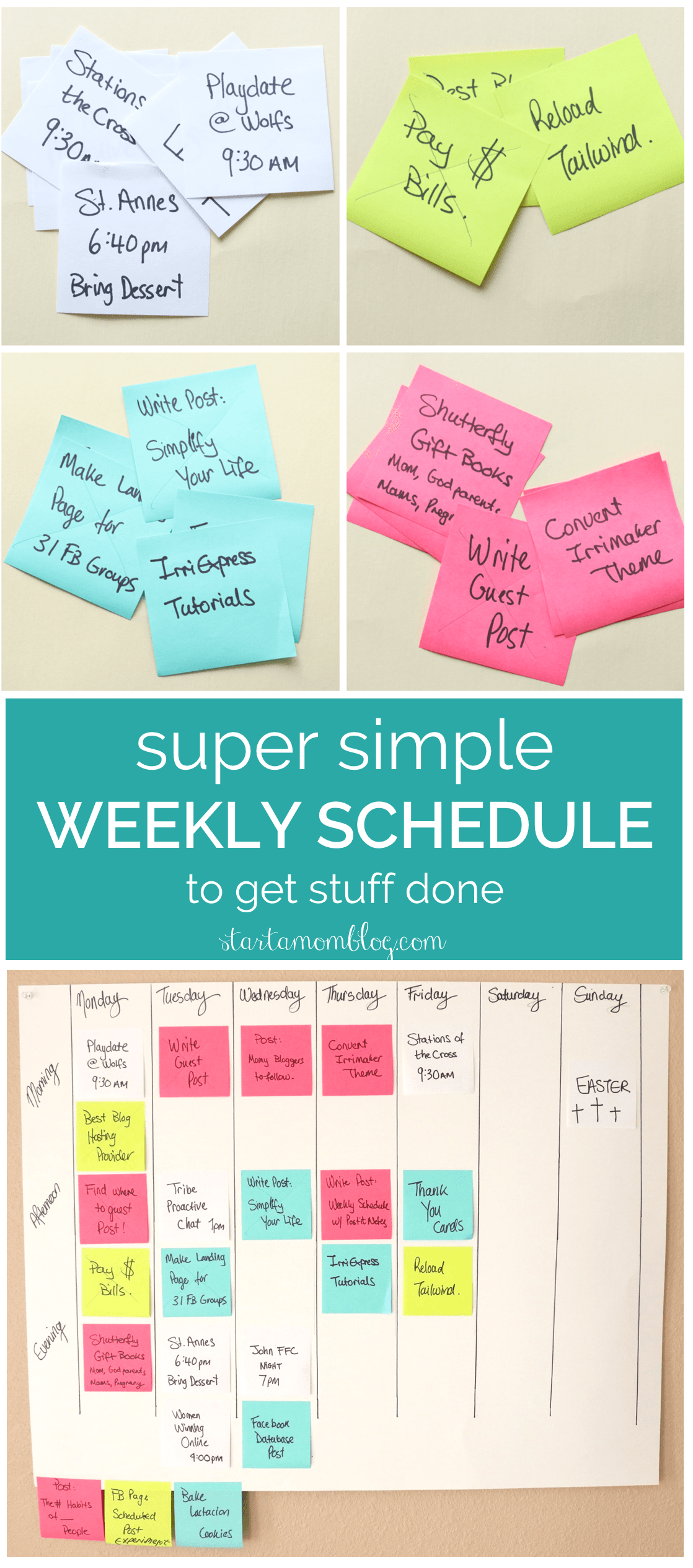 Super Simply Weekly Schedule to Get Stuff Done