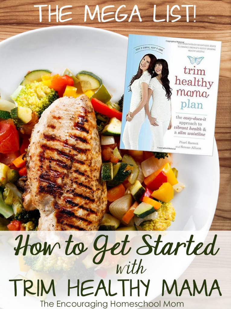 The Mega List Of Getting Started With Trim Healthy Mama Money