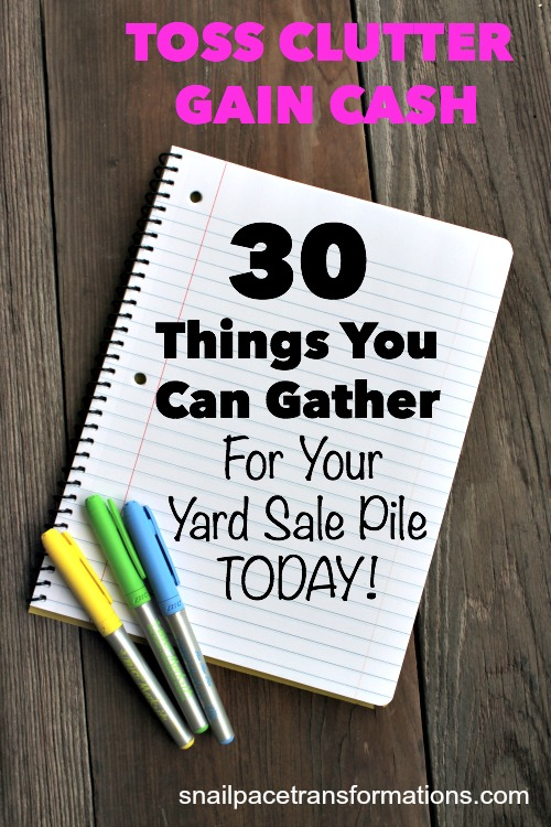 30 Things You Can Gather for Your Yard Sale Pile Today