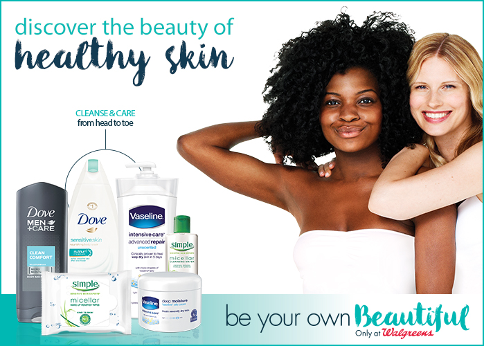 Be Your Own Beautiful at Walgreens with skin care tips and savings, plus enter to win a $50 Walgreens gift card!