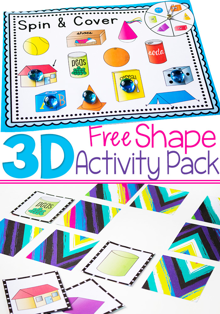 Free 3D Shapes Printable Pack