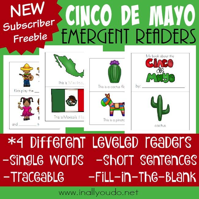 Free Cinco de Mayo Emergent Readers Printable