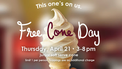 Free Cone Day at Carvel on April 21, 2016!