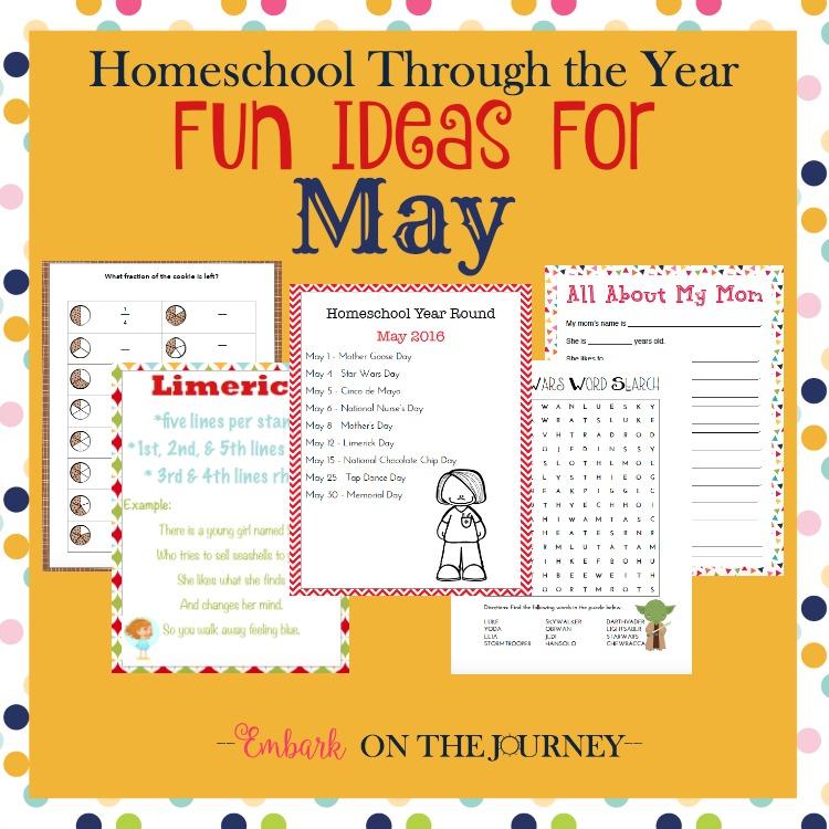 Free May Homeschool Activities Printable Pack