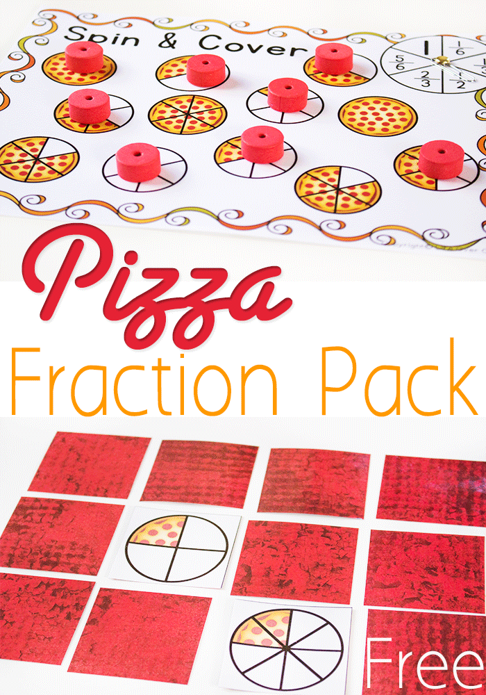 Free Pizza Fractions Printable Pack