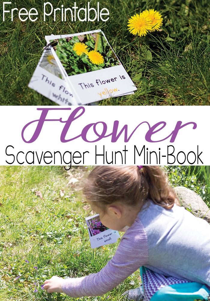 Free Printable Flower Scavenger Hunt Mini Book