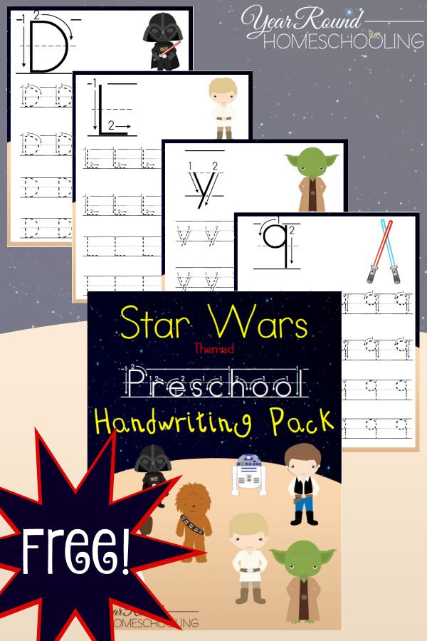 Free Printable Star Wars Themed Preschool Handwriting Pack