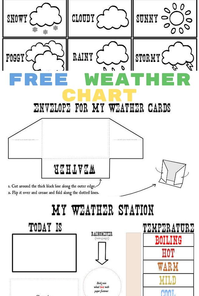 Free Printable Weather Chart for Kids - Money Saving Mom®