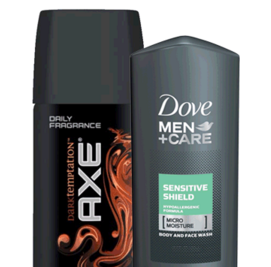 Free Samples of Dove Men+Care Body Wash and AXE Body Spray