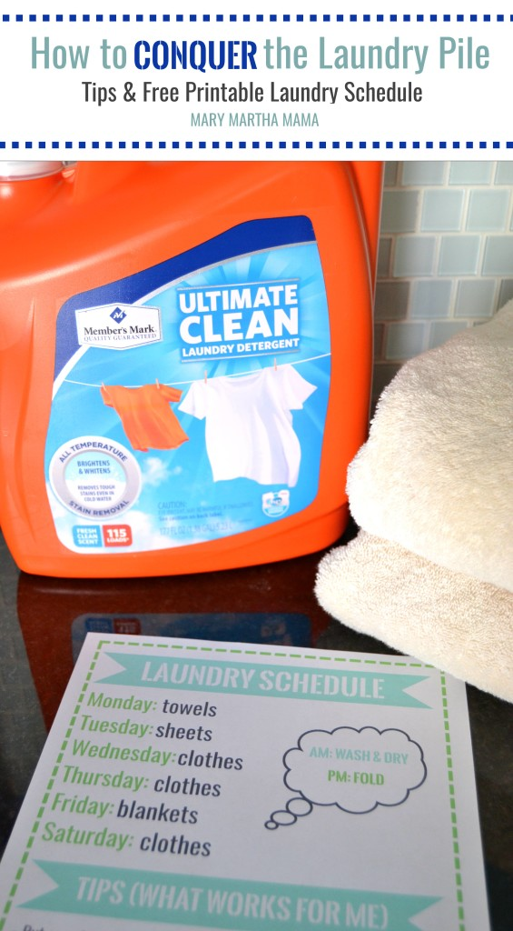 How to Conquer the Laundry Pile + Free Printable Laundry