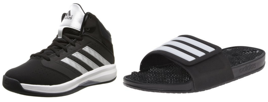f6700c3df Amazon is offering up to 50% off Adidas sandals and basketball shoes today!
