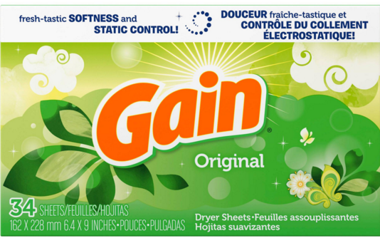 Get Gain Dryer Sheets for just $0.30 each at Walmart right now!