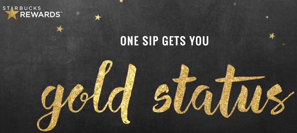 Sign up with the new Starbucks Rewards, make one purchase, and you'll be given instant gold member status!