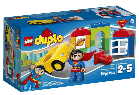 Get the LEGO DUPLO Super Heroes Superman Rescue Building Set for just $9.80 right now!
