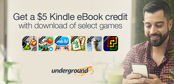 Get a free $5 Kindle eBook credit with a qualifying game app download!