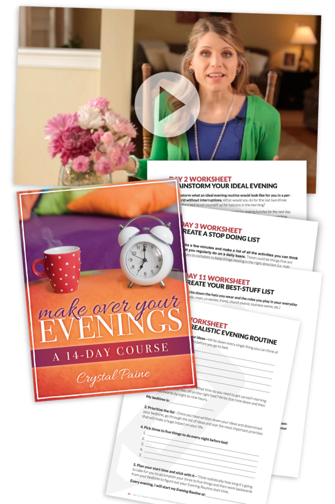Make Over Your Evenings -- because a successful day begins the night before!