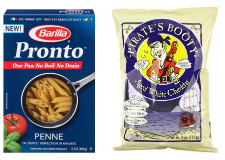 Get great deals on Barilla pasta and Pirate's Booty cheddar puffs at Target right now!